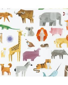 A to Z Animals white Robert Kaufman