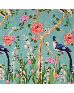 Chinoiserie Border Turquoise