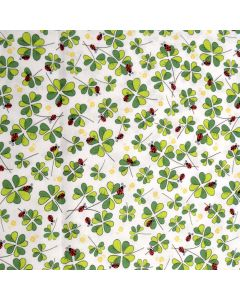 Clovers Ladybug White from quilting treasures