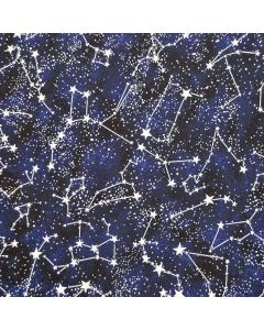 Constellations Glow In The Dark Midnight, Timeless Treasures