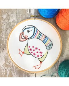 Puffin Embroidery Kit Hawthorn