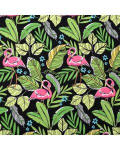 Flamingos in Paradise Black
