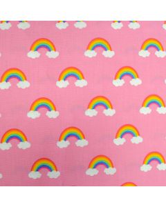 Happy Little Unicorns Rainbows Pink, Robert Kaufman