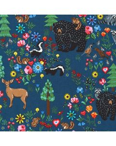 HIdden Canyon Blue Jay Robert Kaufman fabric