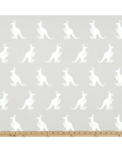 Kangaroo in French Grey Twill , Premier Prints