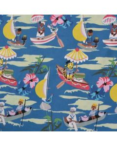 Explorers in the Royal Blue colourway from the Out to Sea range by Elizabeth Grubaugh for Blend Fabrics.