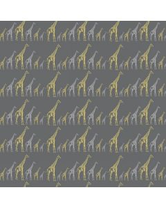 Giraffes Sparkle and Fade Charcoal Metallic, Hoffman