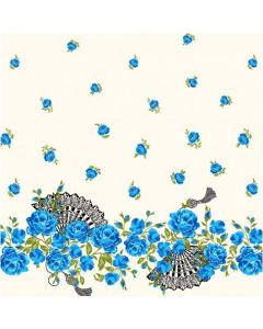 So Fancy in the Sapphire colourway from the Charming by Gertie range for Michael Miller Fabrics MMDC8209