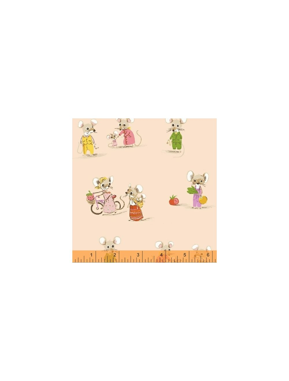 Windham Fabrics Trixie by Heather Ross 50897 2 Blush Country Mouse Cotton Fab