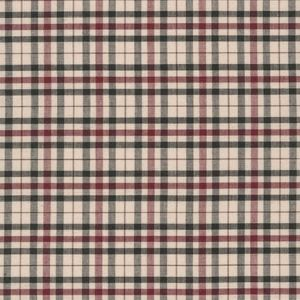 Classic Plaid Red on Tan Broadcloth, Sevenberry