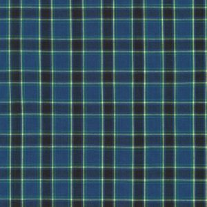 Classic Plaid Yellow on Blue Broadcloth, Sevenberry