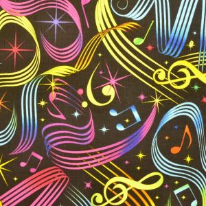 Bright Music Notes, Timeless Treasures