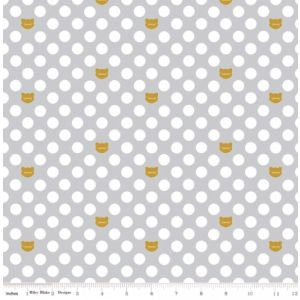 Cat Dot Spot Grey, Riley Blake
