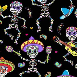 Dancing Day of the Dead, Timeless Treasures