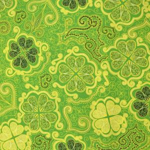 Decorative Clovers Green from Quilting Treasures