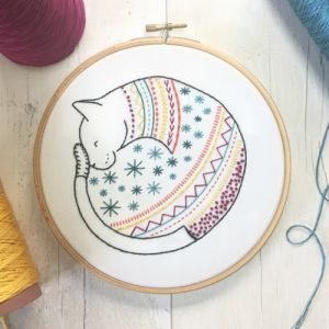 Cat Embroidery Kit Hawthorn