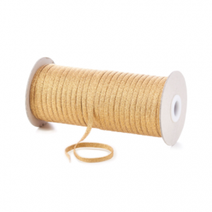 Gold Lurex 6mm Flat Cord Elastic