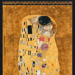 Gustav Klimt The Kiss Fabric Panel Robert Kaufman