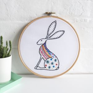 Hare Embroidery Kit Hawthorn