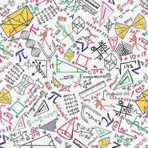 Math Doodle on Grid, Timeless Treasures