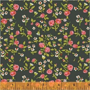 Mousies Floral Dark Green, Heather Ross