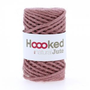 Natural Jute Tea Rose, Hoooked