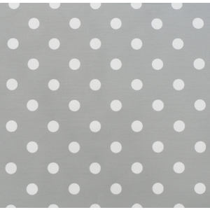 Polka Dot Storm/White Twill