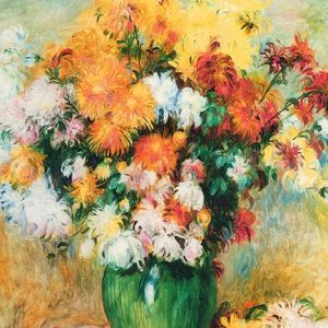 Flowers in a Vase Renoir 60cm PANEL, Robert Kaufman