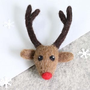 Rudolph Brooch Mini Felting Kit