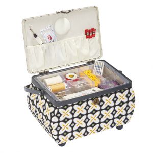 Prym Sewing Basket Med Retro Grey