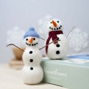 Felting Snowmen Kit from Hawthorn Handmade