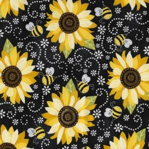 Sunflower and Bee Chalkboard, Timeless Treasures