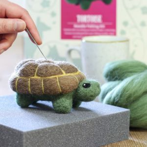 Tortoise Needle Felting Kit from Hawthorn Handmade