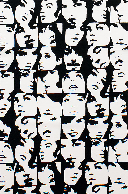 1m in crowd black and white alexander henry fabric per