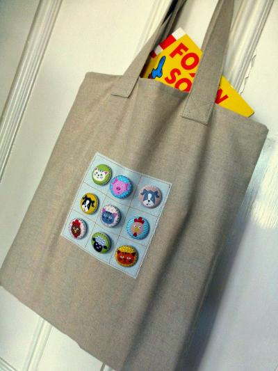 Button Book Bag