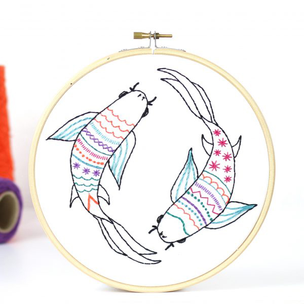 Koi Carp Embroidery